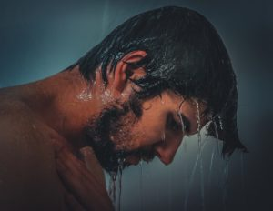 After a shower