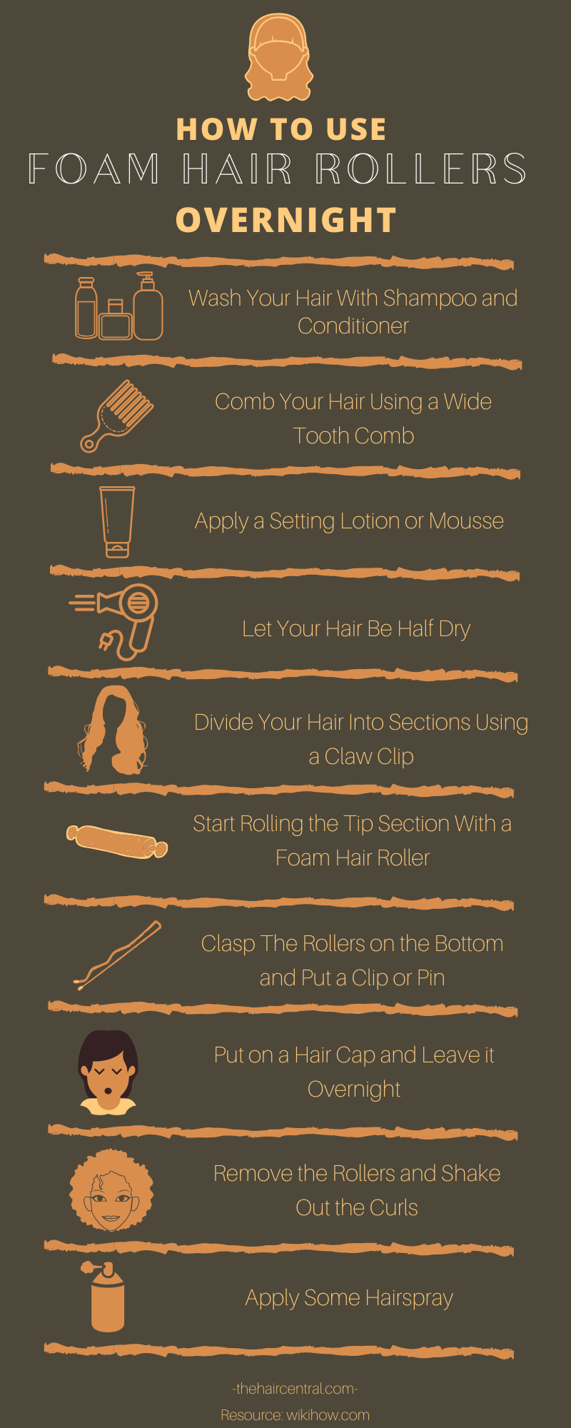 how to use foam hair rollers overnight
