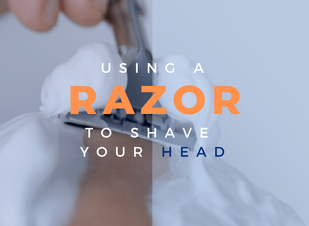 how to use a razor to shave head image