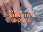 how to use a shaving bowl image