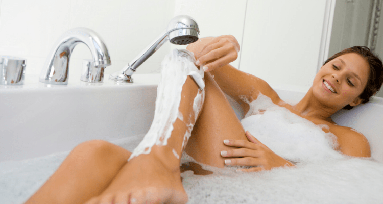 shaving cream women pubic hair image