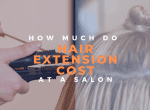 cost of hair extensions at a salon image