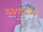 sleeping with rollers image