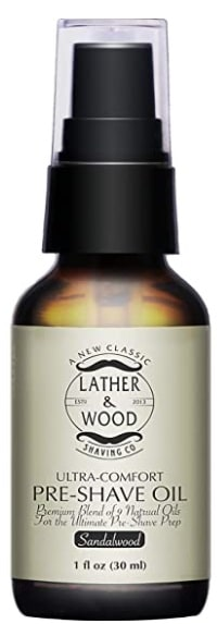 Lather Wood Shaving Co pre-shave oil image
